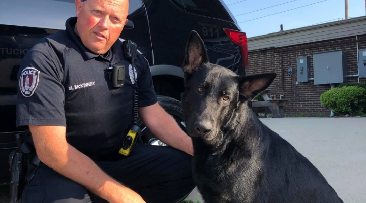 EKU Police Officer with K9