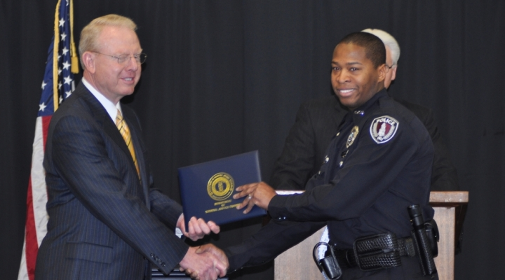 EKU Police Officer graduating from DOCJT